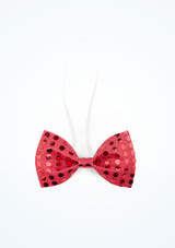 Sequined Bow Tie Pink main image.