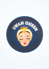 Ballet Bag Swan Queen Laptop Sticker Blue front. [Blue]