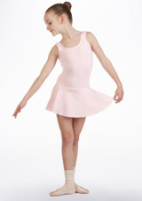 So Danca Girls Tank Skirted Leotard Pink front. [Pink]