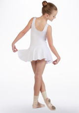 So Danca Girls Tank Skirted Leotard White back. [White]