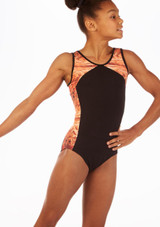 So Danca Eris Gymnastics Leotard Black front. [Black]