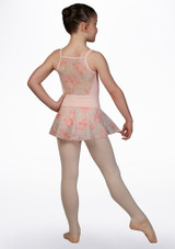 Bloch Pull On Floral Mesh Skirt* Pink back. [Pink]