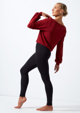 Move Dance Dare Cut Out Sweatshirt Red back. [Red]