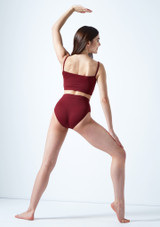 Move Dance Europa High Waisted Dance Briefs Red back. [Red]