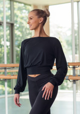 Move Dance Alive Warm Up Top Black front #2. [Black]