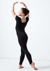 Alegra Jasmin Girls Short Sleeve Catsuit Black back. [Black]