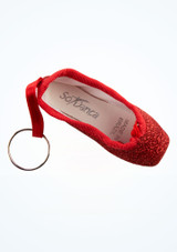 So Danca Glitter Mini Pointe Shoe Keyring Blue top. [Red]
