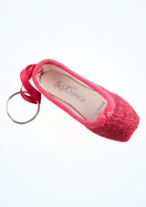 So Danca Glitter Mini Pointe Shoe Keyring Gold top. [Pink]