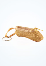 So Danca Glitter Mini Pointe Shoe Keyring Pink top #2. [Gold]