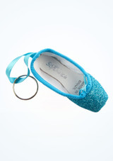 So Danca Glitter Mini Pointe Shoe Keyring Red side. [Blue]