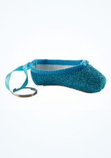 So Danca Glitter Mini Pointe Shoe Keyring Pink side #2. [Blue]