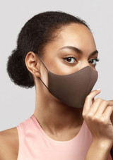 Bloch Adult B-Safe Soft Stretch Face Mask Brown. [Brown]
