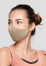 Bloch Adult B-Safe Soft Stretch Face Mask Tan. [Tan]