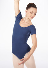 Bloch Cavalier Leotard Blue front. [Blue]