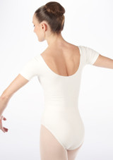 Bloch Cavalier Leotard White back. [White]