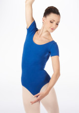 Bloch Cavalier Leotard Blue front #2. [Blue]