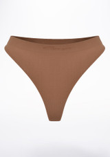 Capezio Thong Brown front. [Brown]