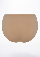 Capezio Brief Tan back. [Tan]