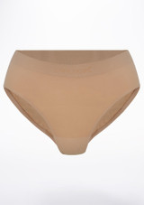 Capezio Brief Tan front. [Tan]