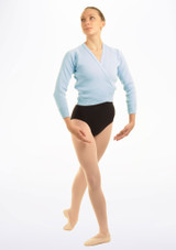 Tappers & Pointers Knit Ballet Wrap Childrens Blue #3. [Blue]