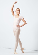 Move Hadey Square Neck Leotard Pink front. [Pink]