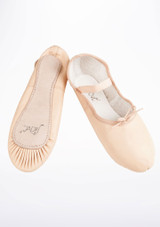Move Full Sole Leather Ballet Shoe Pink #2. [Pink]