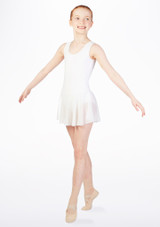 Move Kirsty Skirted Leotard White front. [White]