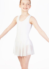 Move Kirsty Skirted Leotard Pink front. [Pink]