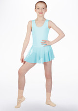 Move Kirsty Skirted Leotard Blue front. [Blue]