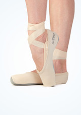 So Danca Pointe Shoe Covers Pink side. [Pink]
