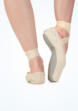 So Danca Pointe Shoe Covers Pink back. [Pink]