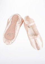 Move Full Sole Satin Ballet Shoe Pink #2. [Pink]