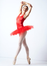 Alegra Pull On Practice Tutu Red Front-1 [Red]
