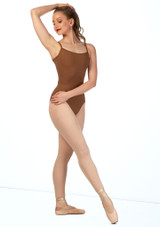 Bloch Nejor Camisole Leotard Tan front #2.
