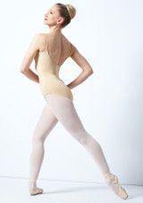 Bloch Nejor Camisole Leotard Tan front. [Tan]