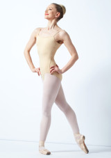 Bloch Nejor Camisole Leotard Brown back. [Tan]
