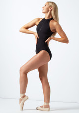 Bloch Zip Up Open Back Leotard* Black front. [Black]