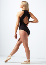 Bloch Zip Up Open Back Leotard* Black back. [Black]