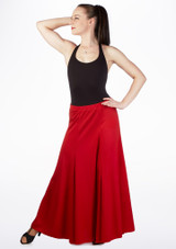 Intermezzo Flare Panel Skirt Red front. [Red]