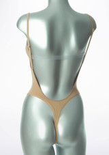 Bloch Seamless Thong Bodysuit Tan back #2. [Tan]
