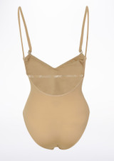 Bloch Scorpio Kids Nude Leotard Tan back. [Tan]