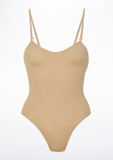 Bloch Scorpio Kids Nude Leotard Tan front. [Tan]