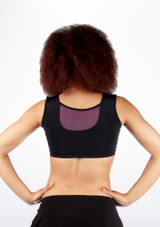 Dincwear Mesh Insert Crop Top Purple #2. [Purple]