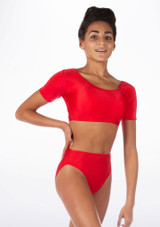 Alegra Shiny Odele Dance Top Red front #2.