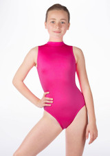 Alegra Girls Shiny Verity Leotard Pink front #2. [Pink]