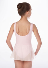 Repetto Confirmes Girls Skirted Tunic Leotard Pink back. [Pink]