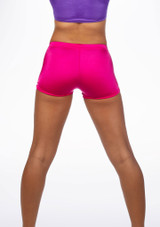 Alegra Girls Shiny Hotpants Pink back. [Pink]