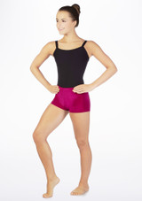 Tappers & Pointers Velvet Gymnastic Shorts Pink main image. [Pink]