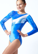 Tappers & Pointers GYM31 Gymnastics Leotard Blue Front-1T [Blue]