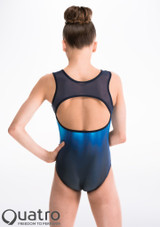 Quatro Oceana Gymnastics Leotard Blue back. [Blue]